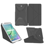 "roocase RC-GALX-TAB-S2-9.7-OG-SS-SG/GM Origami 3D PC/TPU Case for 9.7"" Samsung Galaxy Tab S2, Space Gray/Gunmetal Gray"