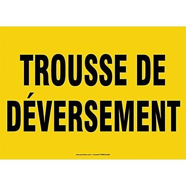 Sign, Trousse De Deversement, Alum, 10 x 14, 3/Pack