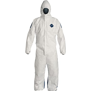 Tyvek Dual Hooded Coveralls, Seh063, 4X-Large, 6/Pack