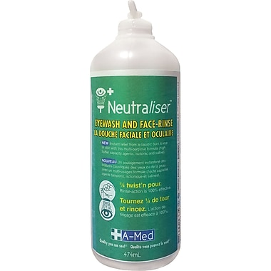 Neutraliser Eyewash & Face-Rinse, SEI503, Solution, 12/Pack