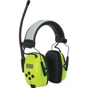 Radio numérique avec protège oreilles à haute visibilité