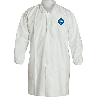 Dupont Tyvek Lab Coat, Sek279, Large, 12/Pack