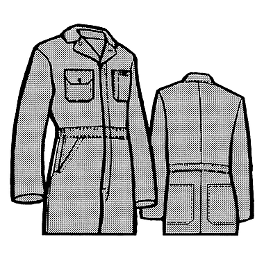 Lined Coveralls, Sg772, Large