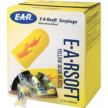 E-a-rsoft Yellow Neons & Blasts Earplugs, Sj427