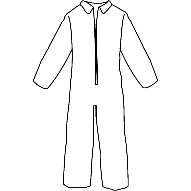 Pyrolon Plus Ii Coveralls, Flame Retardant Fabric, Sn342, X-Large, 5/Pack