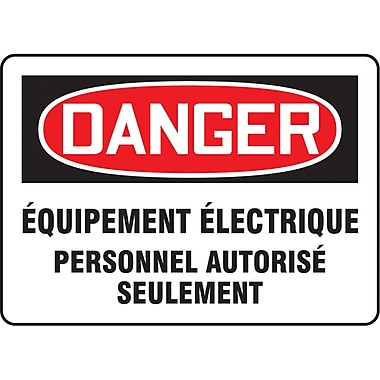 Accuform Signs® French Electrical, 5/Pack
