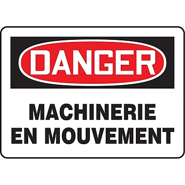Safety Signs and Identification, Equipment, Danger; Machinerie en Movement, SP170