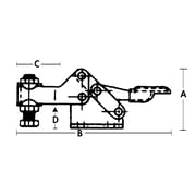 Horizontal Hold-Down Clamps, 205 Series