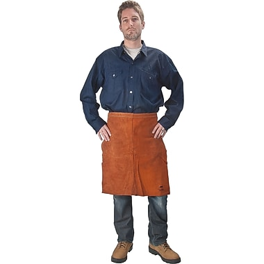 Lava Brown Leather Waist Aprons, 3/Pack