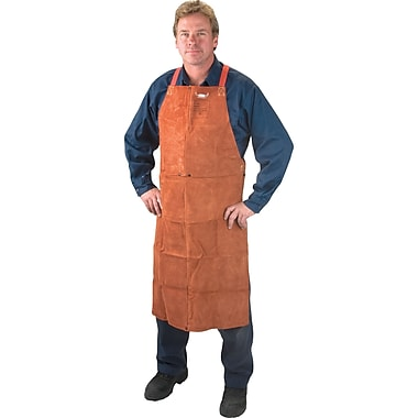 Lava Brown Leather Bib Apron, Ttu394, 42