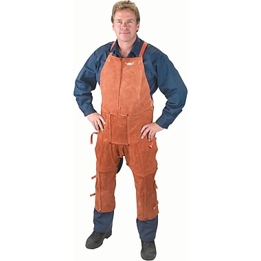 Lava Brown Leather Split Leg Aprons & Chaps, Ttu396, 42