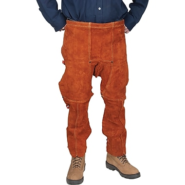 Lava Brown Leather Chaps