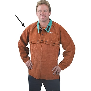Lava Brown Leather Cape Sleeves, Ttu408, X-large