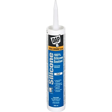 Sealant 100% Silicone Clear 300ml, 12/Pack
