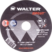 Zipcut Right Angle Grinder Reinforced Cut-off Wheels, Qty/pk 12, Vv150