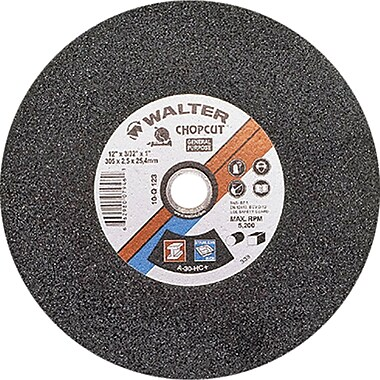 Chop Saw Reinforced Cut-off Wheels, Chopcut Type 01, Qty/pk 6, Vv160