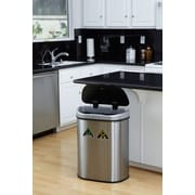 Nine Stars 18.5gal Stainless Steel Motion Sensor Recycle Trash Can (DZT-70-11R)