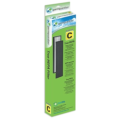 GermGuardian® – Filtre de rechange C FLT5000 AUTHENTIQUE True HEPA pour purificateur AC5000 de Guardian Technologies