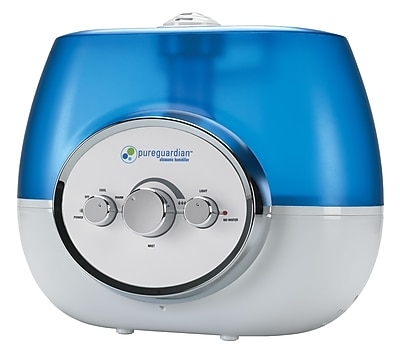 PureGuardian - 1.5 Gal. Ultrasonic Warm/Cool Mist Humidifier - Blue/White H1510