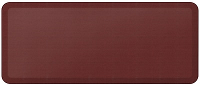 NewLife by GelPro Designer Comfort Standing Mat: 20x48: Grasscloth Crimson