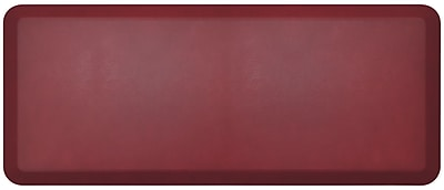 NewLife by GelPro Designer Comfort Standing Mat: 20x48: Leather Grain Cranberry