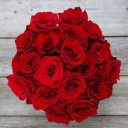 The Bouqs Company Depth Red Roses, 24 Stems, Without Vase (98100202)