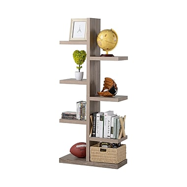 Homestar 7-Shelf Tree Bookcase, Reclaimed Wood