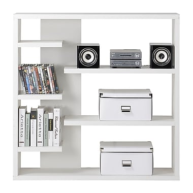 Homestar 6-Shelf Storage Bookcase, White