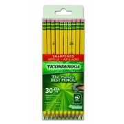 Dixon Ticonderoga® Pre-Sharpened Woodcase Pencils, #2 Soft, Yellow Barrel, 30/Pack