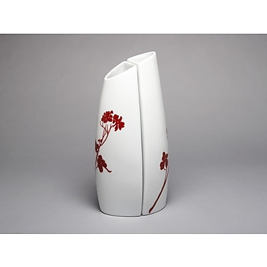 MarlaDawn Dogwood Blossom 2 Piece Tall Back to Back Vase Set