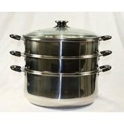 Concord 3 Tier Steamer Steam Pot; 9.45''