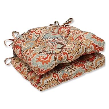 Pillow Perfect Madrid Chair Pad (Set of 2); Persian