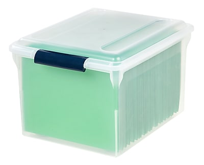 Staples Store-n-Slide File Box, Letter/Legal Size, Clear (139947/133949)