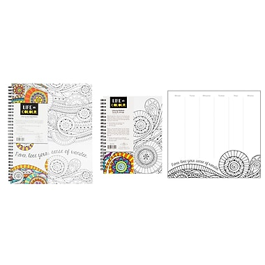 Pine Ridge Art Inc. Life in Colour Stationery Collection, Mandala Design, 3/Pack