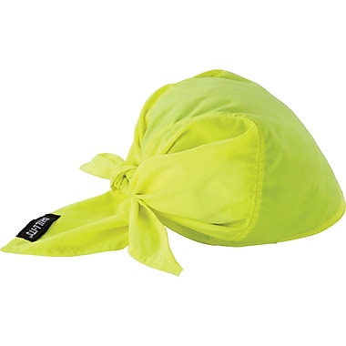 Chill-Its 6710CT Cooling Triangle Hats, Lime-Yellow