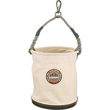 Arsenal Plastic Bottom Canvas Tool Buckets with Snap Hook