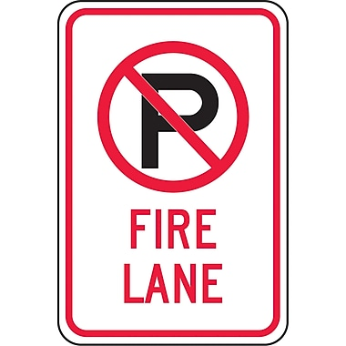 Parking Signs, Fire Lane with No Parking Pictogram
