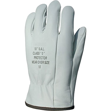 Leather Protector Gloves, Size 9, 4/Pack
