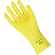 Natural Rubber 200 Series Gloves, Natural Rubber Latex, 72/Pack
