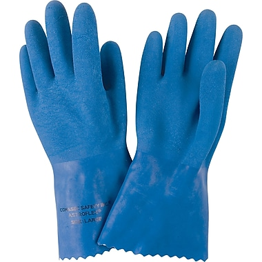 Astroflex TM Natural Latex Rubber Gloves, Small, 24/Pack