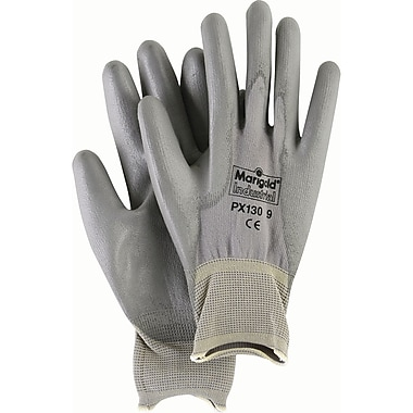 Gray Polyurethane Coated PX130 Gloves, Small, 48/Pack