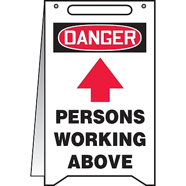 Fold-Ups TM, Danger; Persons Workign Above w/Upward arrow, SEA514