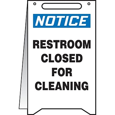 Fold-Ups TM, Notice; Restroom Closed for Cleaning, SEA521