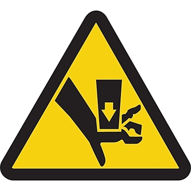 ISO Safety Labels, Warning, Crush, SAX390