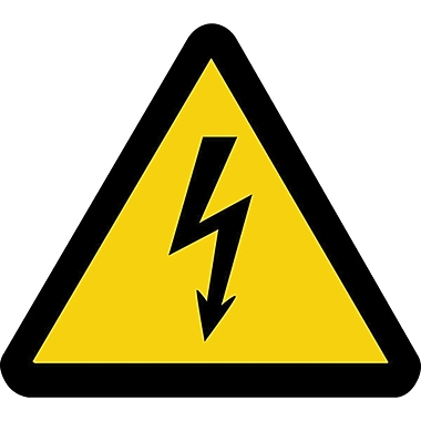 ISO Safety Labels, Warning, Electric Voltage Hazard, SAX420