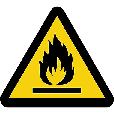 ISO Safety Labels, Warning, Fire Hazard, SAX433