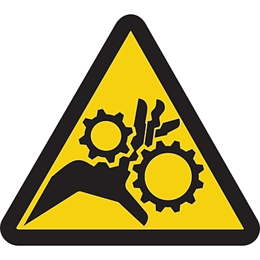 ISO Safety Labels, Warning, Gear Entanglement, SAX399