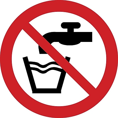 ISO Safety Labels, Prohibition, Not Drinking Water, SAX349