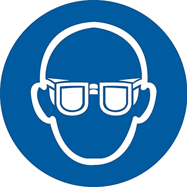 PPE Pictogram Labels, Safety Goggles, SAX256