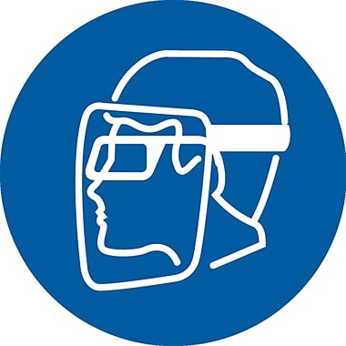 PPE Pictogram Labels, Face Shield, SAX258
